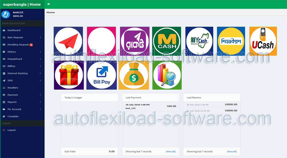 best auto flexiload software and server